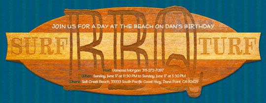 Surf and Turf Invitation
