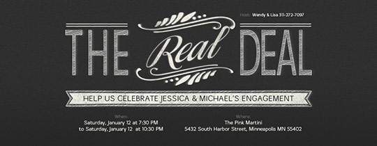 The Real Deal Invitation
