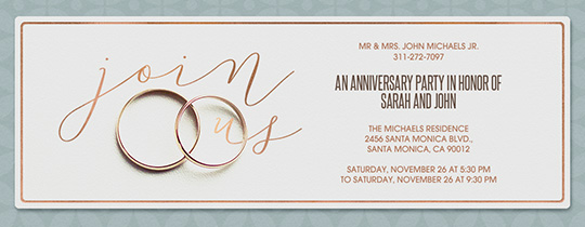 Charming Engagement Party · The Rings Invitation For Engagement Party Invitation Template