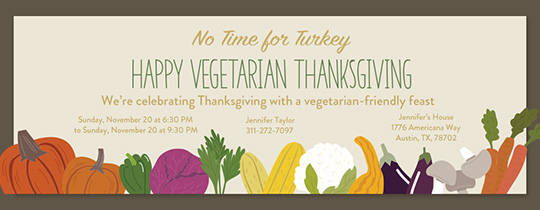 Vegetarian Thanksgiving Invitation