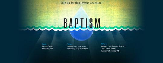 Waterdrop Invitation