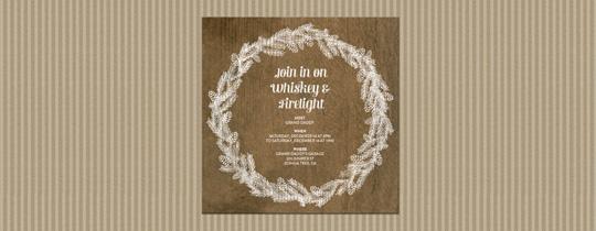 White Wreath Invitation
