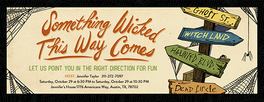 Wicked Signs Invitation