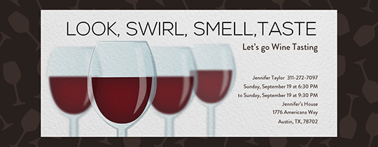 Wine Swirl Taste Invitation