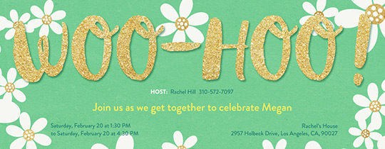 Woo-Hoo Daisies Invitation